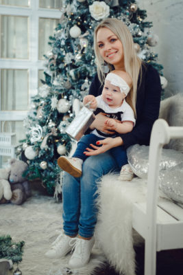 новогодняя семейная фотосессия во Владимире