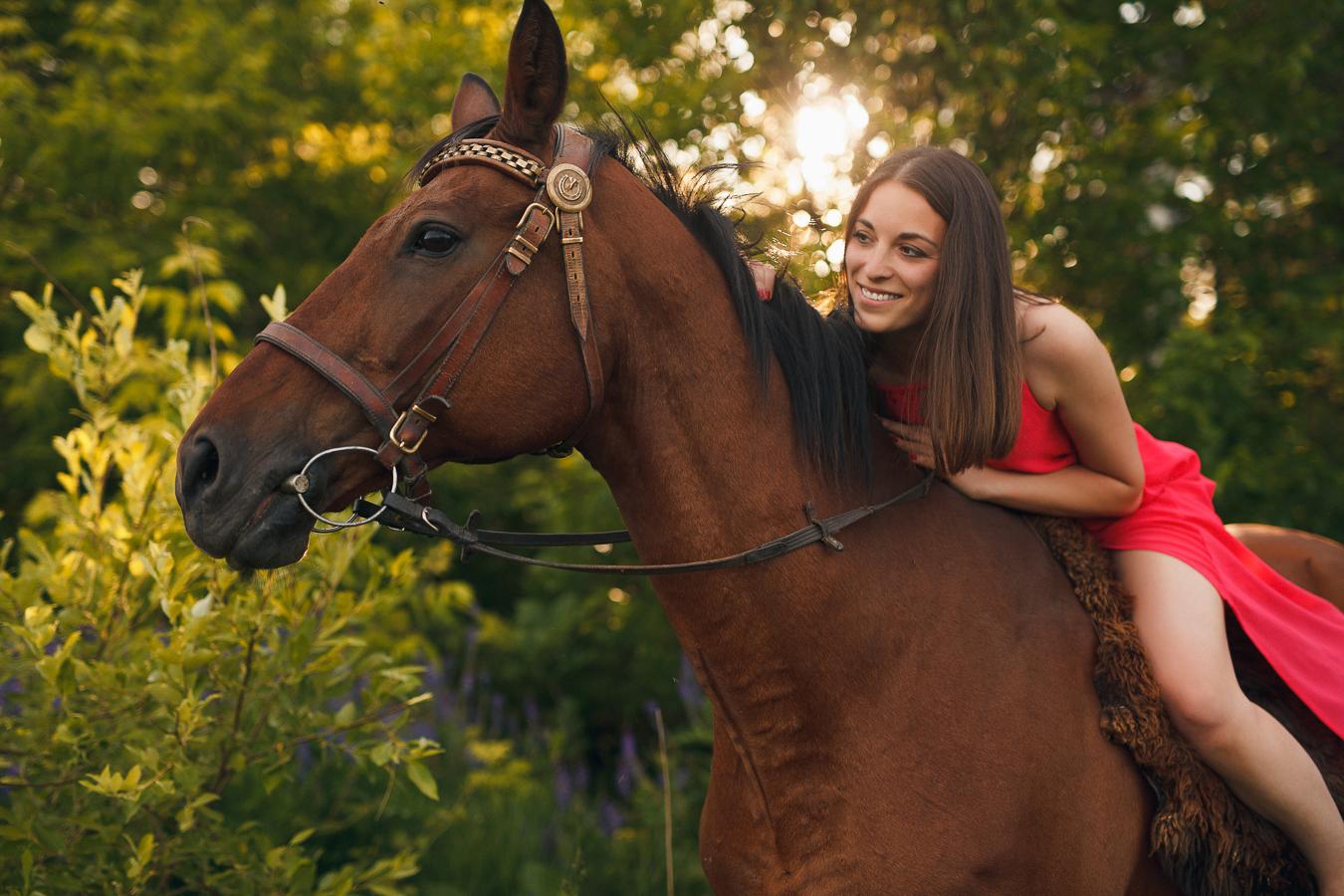 Съёмка с лошадьми. Впечатления модели.